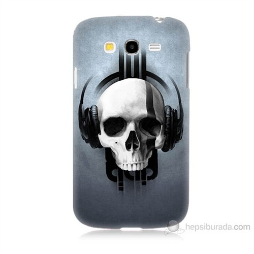 Teknomeg Samsung Galaxy Grand Neo İ9060 Müzik Dinleyen Kurukafa Baskılı Silikon Kılıf