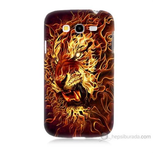 Teknomeg Samsung Galaxy Grand Neo İ9060 Ateşli Aslan Baskılı Silikon Kılıf