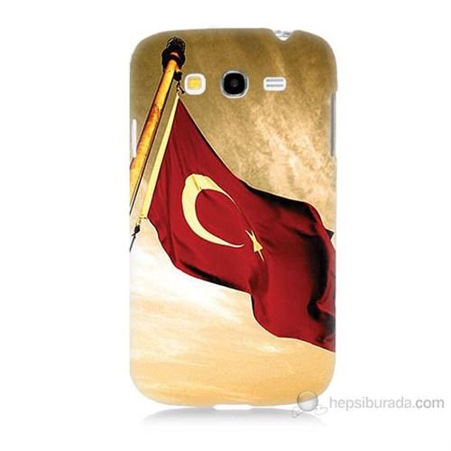 Teknomeg Samsung Galaxy Grand Neo İ9060 Türk Bayrağı Baskılı Silikon Kılıf