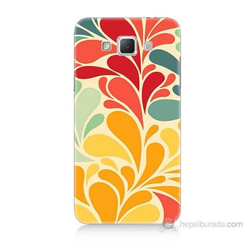 Teknomeg Samsung Galaxy Grand Max Çiçekler Baskılı Silikon Kılıf