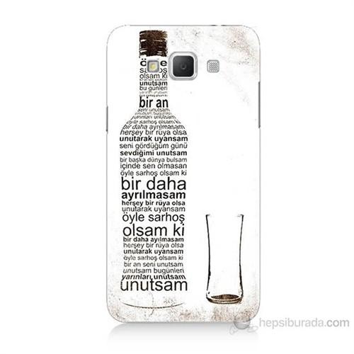 Teknomeg Samsung Galaxy Grand Max Rakı Şişesi Baskılı Silikon Kılıf