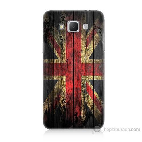 Teknomeg Samsung Galaxy Grand Max İngiliz Bayrağı Baskılı Silikon Kılıf