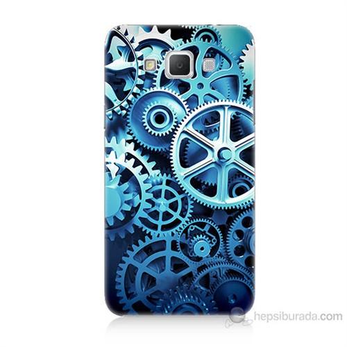 Teknomeg Samsung Galaxy Grand Max Çarklar Baskılı Silikon Kılıf