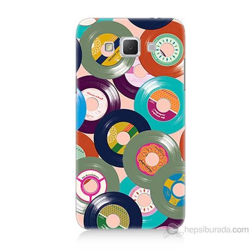 Teknomeg Samsung Galaxy Grand Max Renkli Plaklar Baskılı Silikon Kılıf