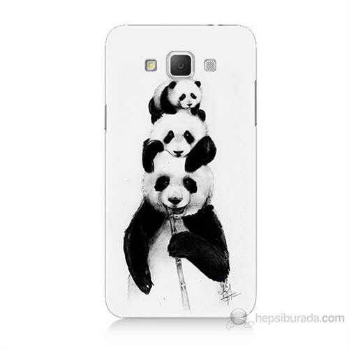Teknomeg Samsung Galaxy Grand Max Panda Ailesi Baskılı Silikon Kılıf