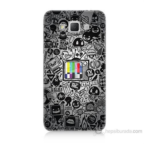 Teknomeg Samsung Galaxy Grand Max Renkli Tv Baskılı Silikon Kılıf
