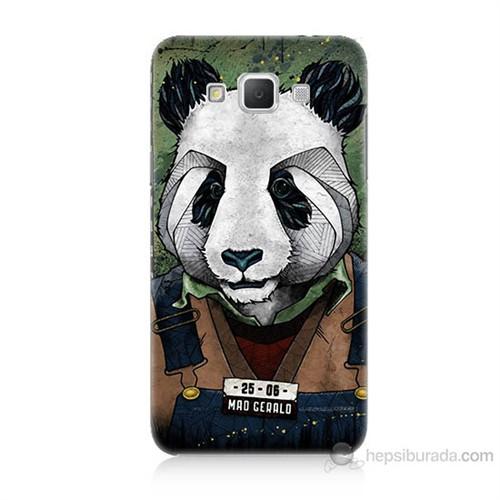 Teknomeg Samsung Galaxy Grand Max İşçi Panda Baskılı Silikon Kılıf