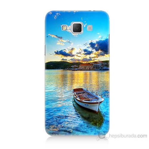 Teknomeg Samsung Galaxy Grand Max Gün Batımında Deniz Baskılı Silikon Kılıf