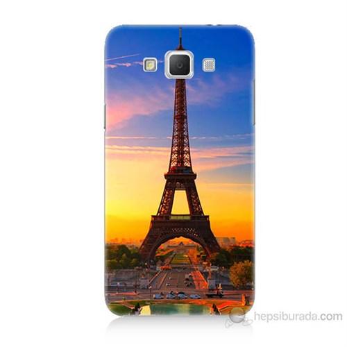 Teknomeg Samsung Galaxy Grand Max Eyfelde Gün Batımı Baskılı Silikon Kılıf