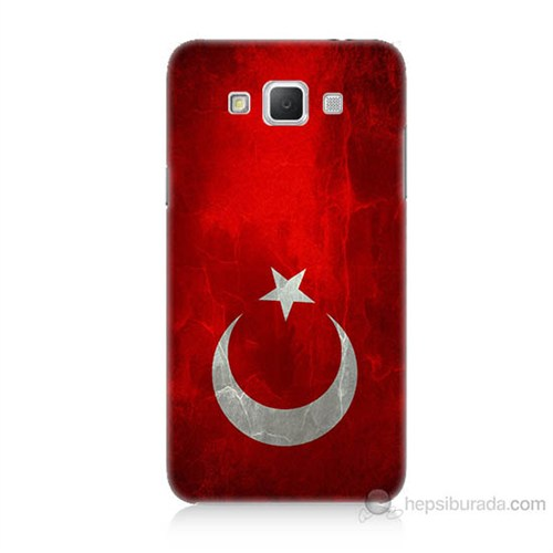 Teknomeg Samsung Galaxy Grand Max Türkiye Bayrağı Baskılı Silikon Kılıf