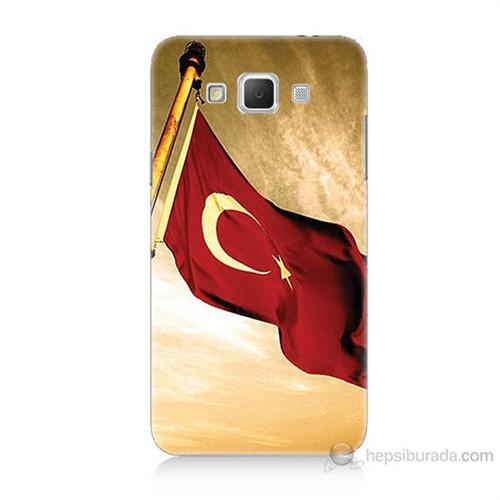 Teknomeg Samsung Galaxy Grand Max Türk Bayrağı Baskılı Silikon Kılıf