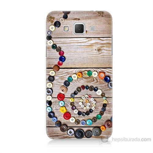 Teknomeg Samsung Galaxy Grand Max Düğmeler Baskılı Silikon Kılıf