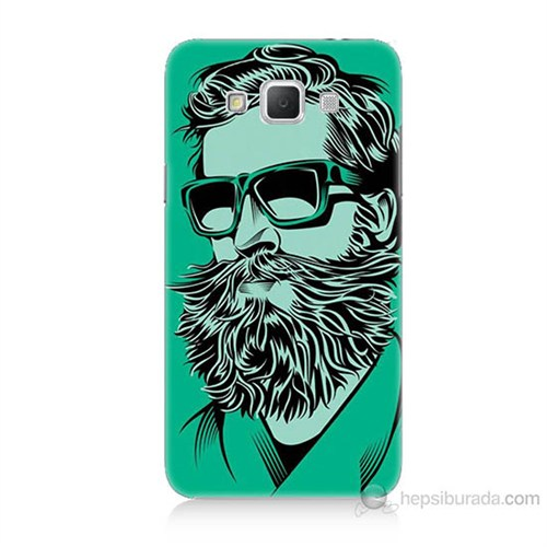 Teknomeg Samsung Galaxy Grand Max Beard Art Baskılı Silikon Kılıf