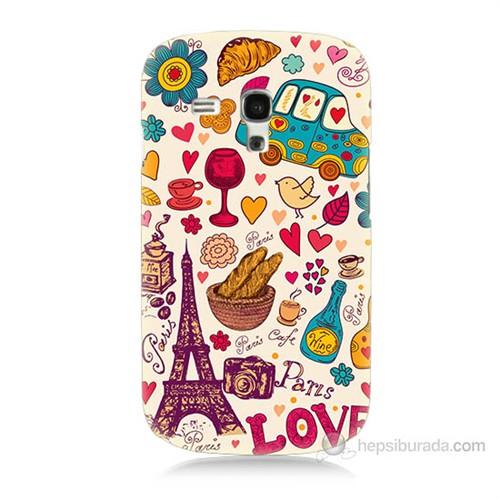 Teknomeg Samsung Galaxy S3 Mini Paris Love Baskılı Silikon Kılıf