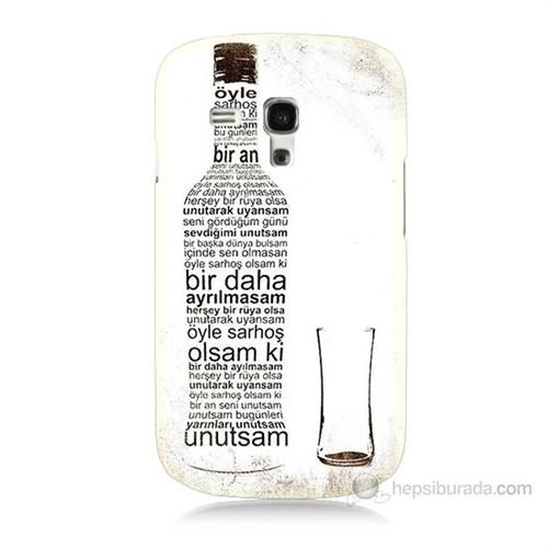 Teknomeg Samsung Galaxy S3 Mini Rakı Şişesi Baskılı Silikon Kılıf