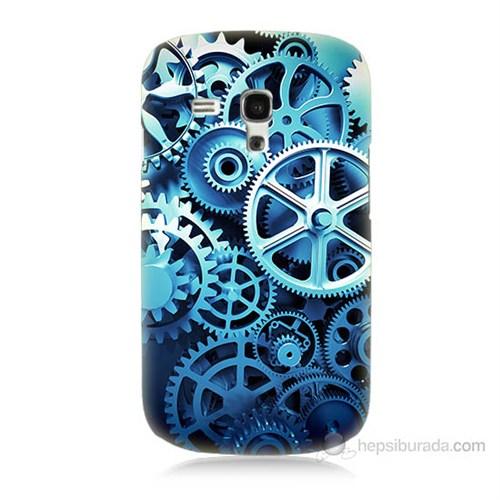 Teknomeg Samsung Galaxy S3 Mini Çarklar Baskılı Silikon Kılıf