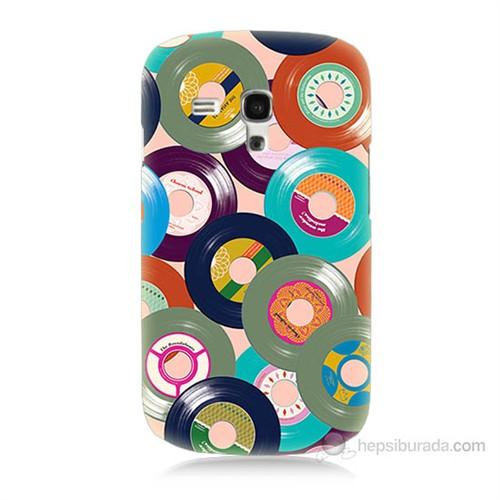 Teknomeg Samsung Galaxy S3 Mini Renkli Plaklar Baskılı Silikon Kılıf