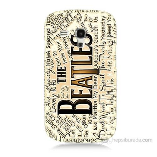 Teknomeg Samsung Galaxy S3 Mini The Beatles Baskılı Silikon Kılıf