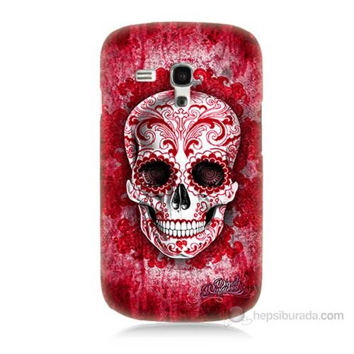Teknomeg Samsung Galaxy S3 Mini Kırmızı İskelet Baskılı Silikon Kılıf