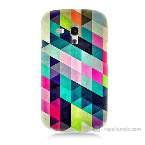 Teknomeg Samsung Galaxy S3 Mini Mozaikler Baskılı Silikon Kılıf