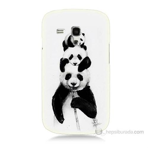 Teknomeg Samsung Galaxy S3 Mini Panda Ailesi Baskılı Silikon Kılıf