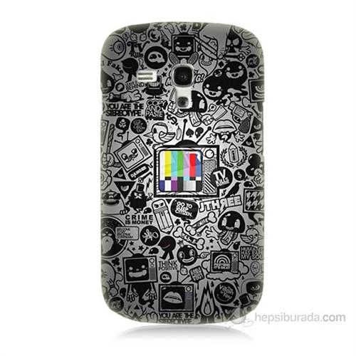 Teknomeg Samsung Galaxy S3 Mini Renkli Tv Baskılı Silikon Kılıf