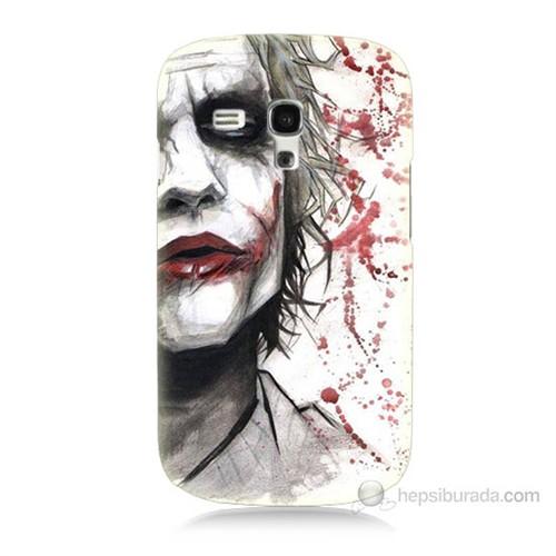Teknomeg Samsung Galaxy S3 Mini Kanlı Joker Baskılı Silikon Kılıf