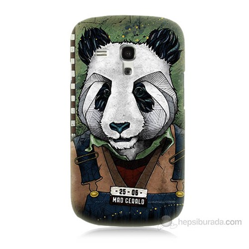 Teknomeg Samsung Galaxy S3 Mini İşçi Panda Baskılı Silikon Kılıf