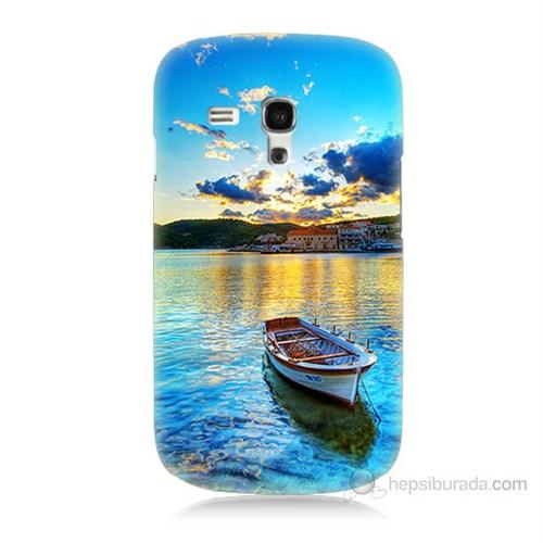 Teknomeg Samsung Galaxy S3 Mini Gün Batımında Deniz Baskılı Silikon Kılıf
