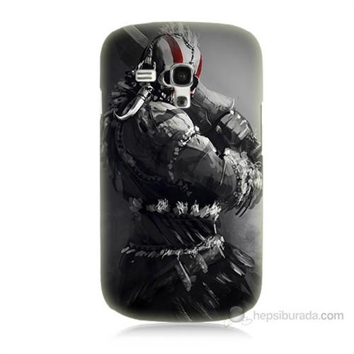 Teknomeg Samsung Galaxy S3 Mini Tribal Warrior Baskılı Silikon Kılıf