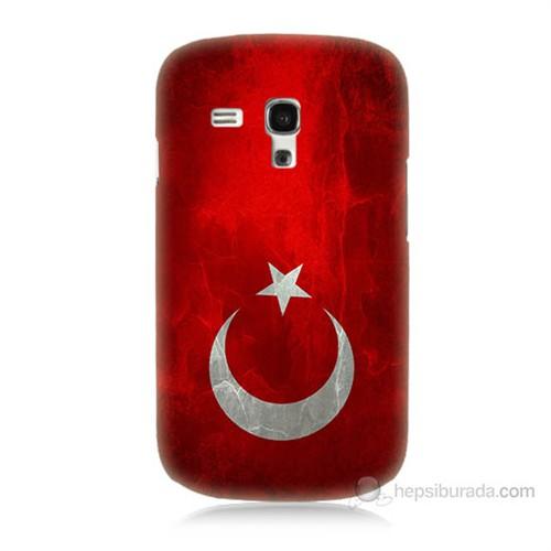 Teknomeg Samsung Galaxy S3 Mini Türkiye Bayrağı Baskılı Silikon Kılıf
