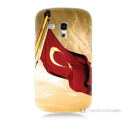 Teknomeg Samsung Galaxy S3 Mini Türk Bayrağı Baskılı Silikon Kılıf