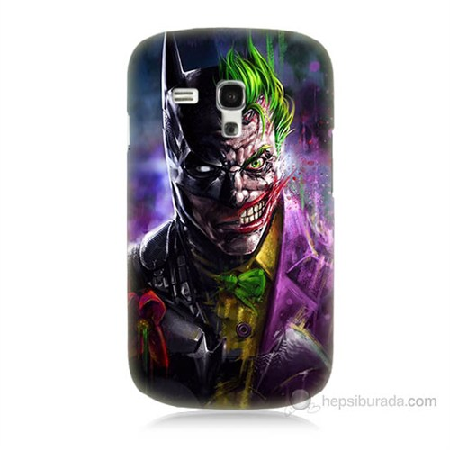 Teknomeg Samsung Galaxy S3 Mini Batman Vs Joker Baskılı Silikon Kılıf