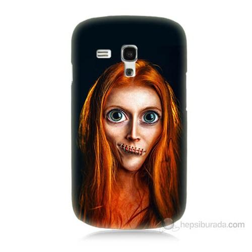 Teknomeg Samsung Galaxy S3 Mini Zombie Kız Baskılı Silikon Kılıf
