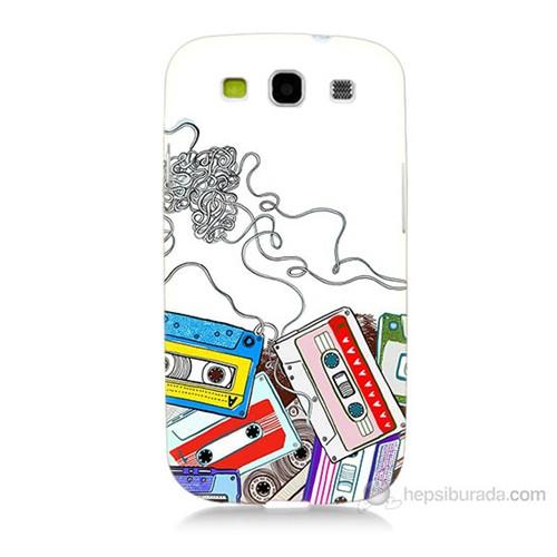 Teknomeg Samsung Galaxy S3 Kasetler Baskılı Silikon Kılıf