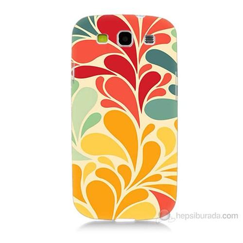Teknomeg Samsung Galaxy S3 Çiçekler Baskılı Silikon Kılıf