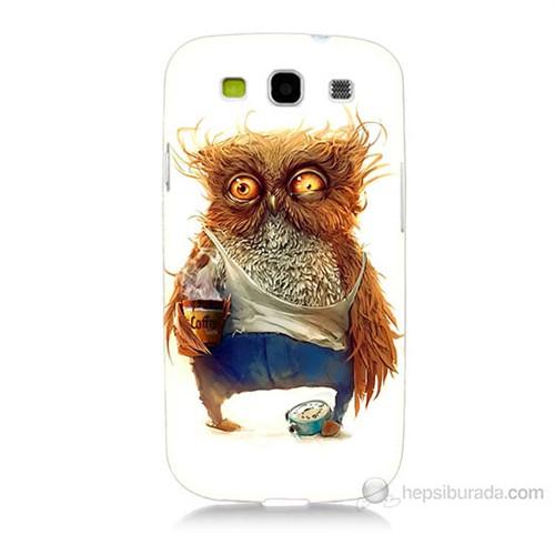 Teknomeg Samsung Galaxy S3 Miskin Baykuş Baskılı Silikon Kılıf