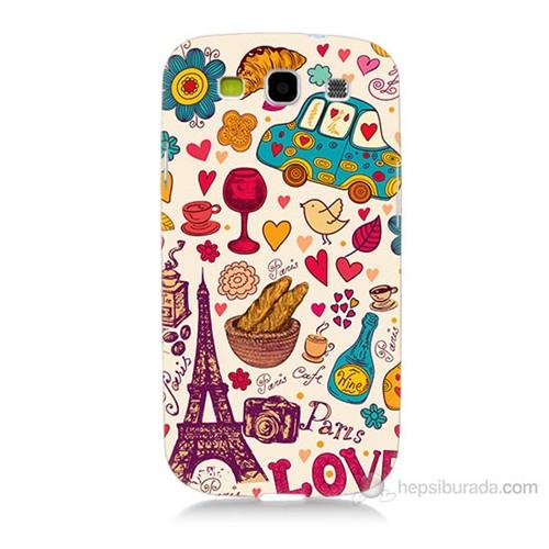 Teknomeg Samsung Galaxy S3 Paris Love Baskılı Silikon Kılıf