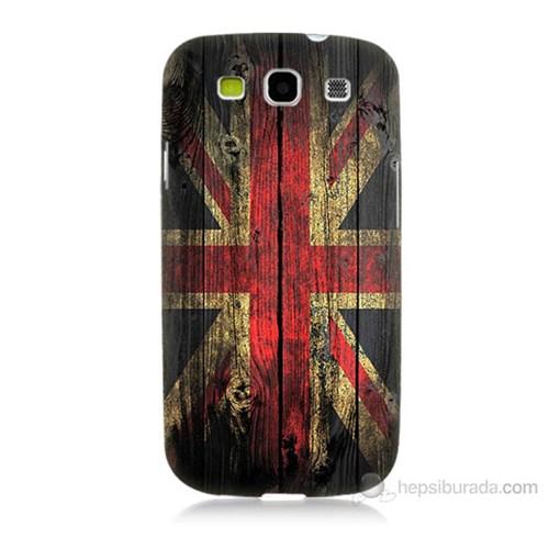Teknomeg Samsung Galaxy S3 İngiliz Bayrağı Baskılı Silikon Kılıf
