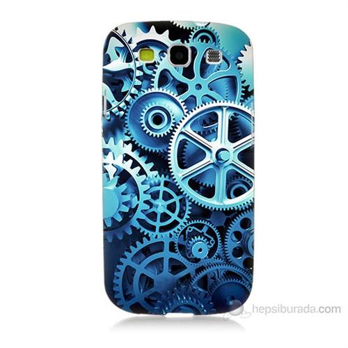 Teknomeg Samsung Galaxy S3 Çarklar Baskılı Silikon Kılıf