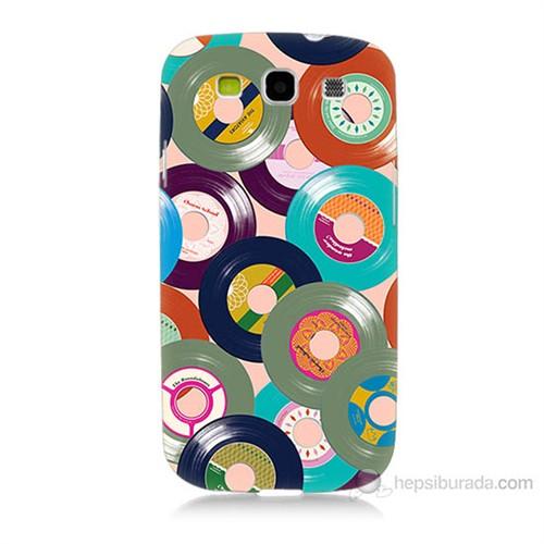 Teknomeg Samsung Galaxy S3 Renkli Plaklar Baskılı Silikon Kılıf