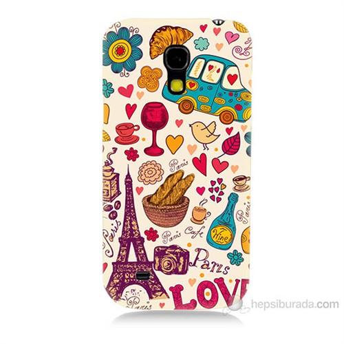 Teknomeg Samsung Galaxy S4 Mini Paris Love Baskılı Silikon Kılıf