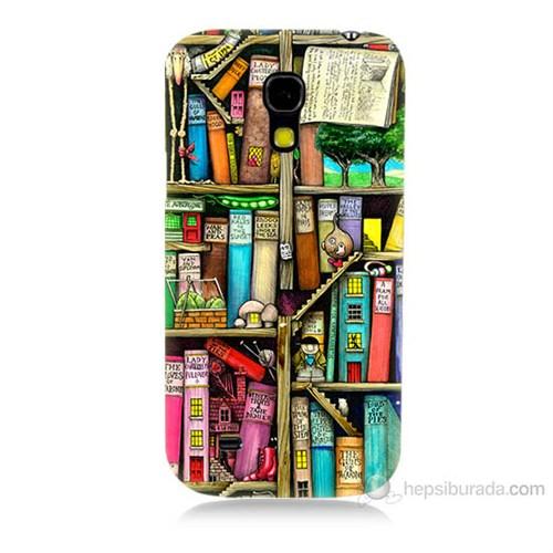 Teknomeg Samsung Galaxy S4 Mini Kitaplık Baskılı Silikon Kılıf