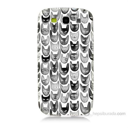 Teknomeg Samsung Galaxy S3 Kediler Baskılı Silikon Kılıf