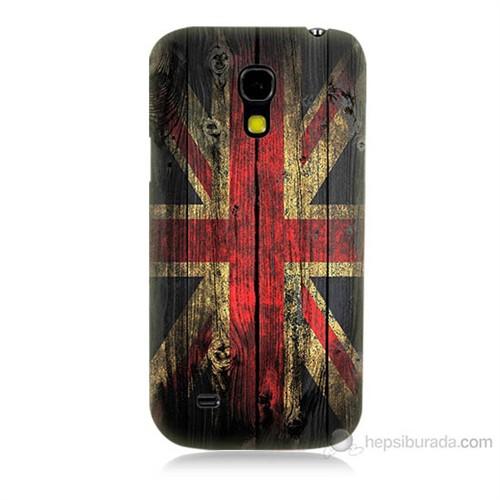 Teknomeg Samsung Galaxy S4 Mini İngiliz Bayrağı Baskılı Silikon Kılıf