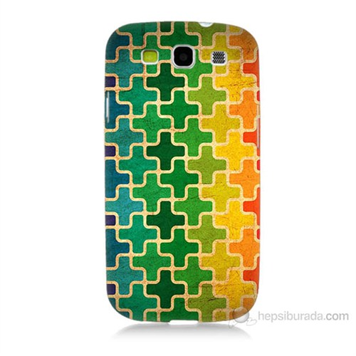 Teknomeg Samsung Galaxy S3 Renkli Artı Baskılı Silikon Kılıf