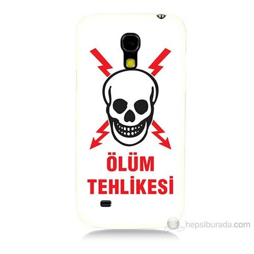 Teknomeg Samsung Galaxy S4 Mini Ölüm Tehlikesi Baskılı Silikon Kılıf