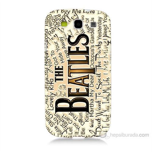 Teknomeg Samsung Galaxy S3 The Beatles Baskılı Silikon Kılıf