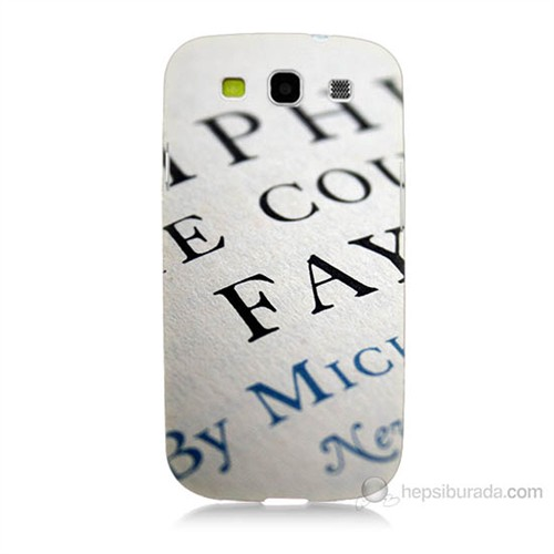 Teknomeg Samsung Galaxy S3 Yazılar Baskılı Silikon Kılıf