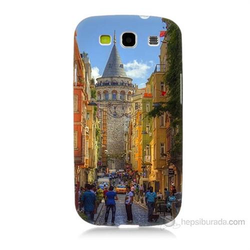 Teknomeg Samsung Galaxy S3 Galata Kulesi Baskılı Silikon Kılıf